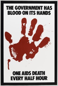Gran Fury, The Government Has Blood On Its Hands, 1988, poster